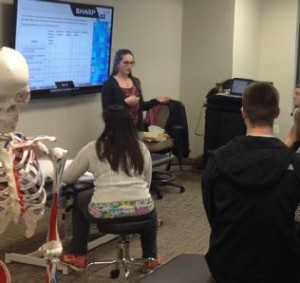 Dr. Sarah Donahue, PT giving presentation